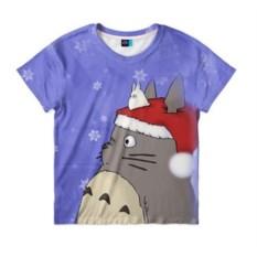 Детская футболка 3D Тоторо и снег