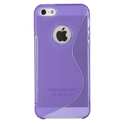 Жесткий силиконовый чехол для IPhone 5 (фиолетовый)