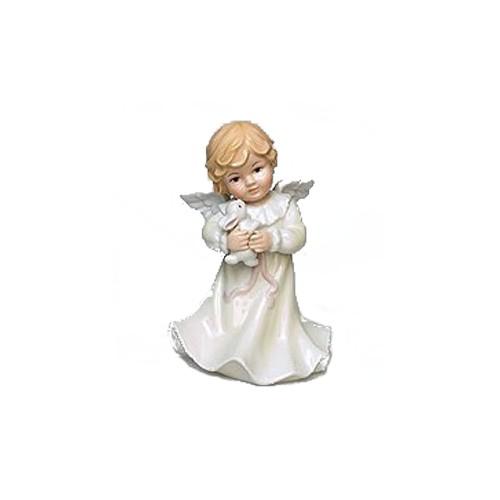 Музыкальная фигурка Ангелочек с белым зайчиком
