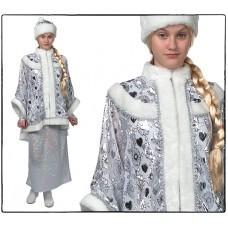 Костюм Снегурочка с платьем  (голография)