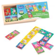 Игровой набор «Домино Королевская семья», дерево, Peppa Pig