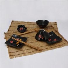 Черно-красный набор для суши и роллов
