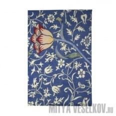 Обложка для паспорта Тюльпан на синем