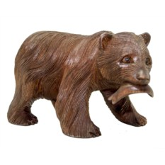 Статуэтка Медведь-рыбак