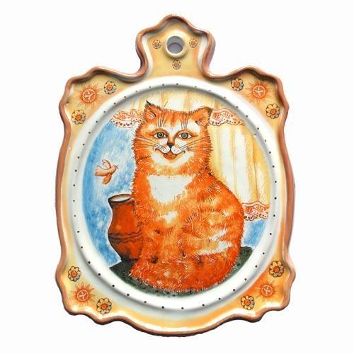 Доска сырная  Кот с крынкой