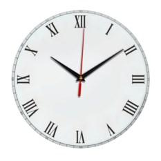 Настенные часы с мелкими римскими цифрами