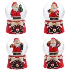 Декоративная фигурка в стеклянном шаре Санта Клаус