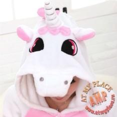 Розовая пижама кигуруми Единорог