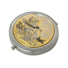 Позолоченное зеркало с гравюрой Семья лебедей