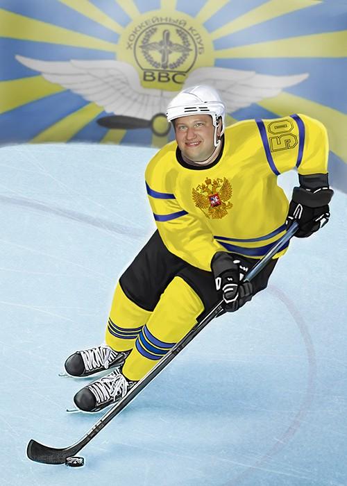 Портрет для хоккеиста