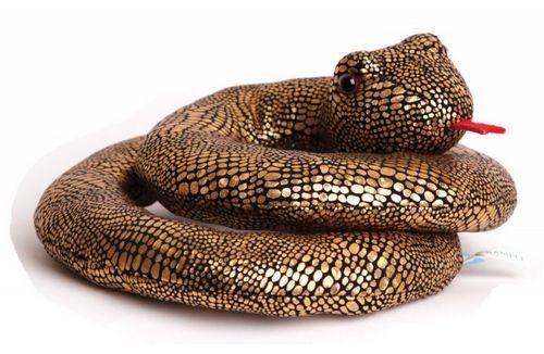 Мягкая игрушка Золотая змейка