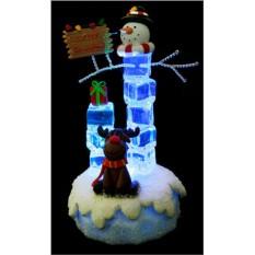 Новогодняя композиция Снеговик и олень