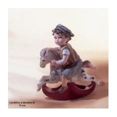 Коллекционная фарфоровая статуэтка Cavallino dondolo M