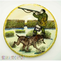 Настенная тарелка Охота