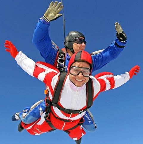 Прыжок с парашютом в тандеме с 4000 метров (для двоих)