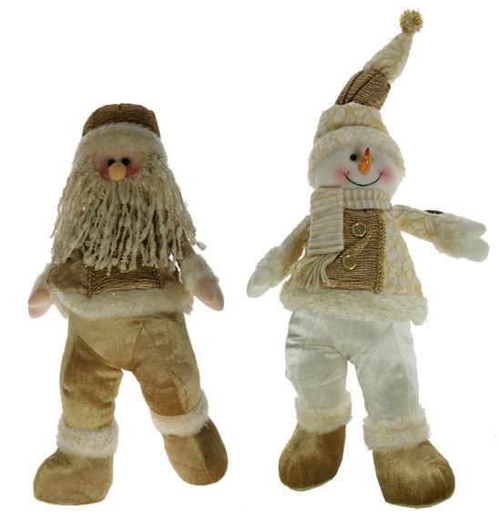 Новогодний сувенир Дед Мороз/снеговик, 64 см