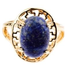 Позолоченное кольцо с лазуритом Греция