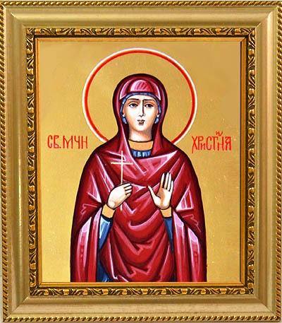 Икона на холсте.Христина Тирская Святая мученица