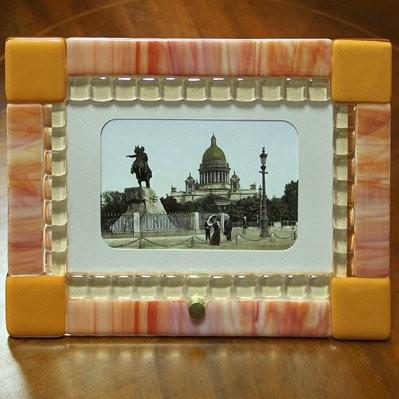 Фоторамка из из худ. стекла Сиена