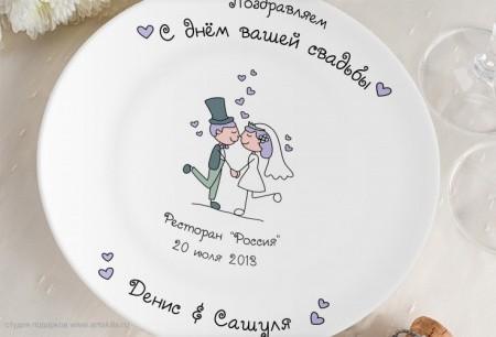 Как сделать тарелки на свадьбу своими руками