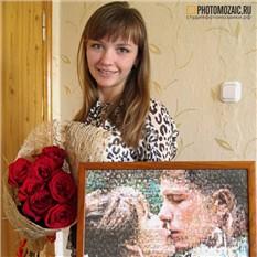 Фотомозаика в подарок девушке на 8 марта