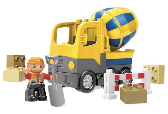 Конструктор Лего «Бетономешалка»