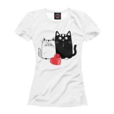 Женская футболка Влюбленные котики
