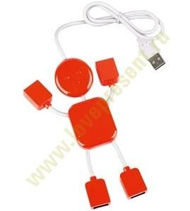 USB Hub на 4 порта Человечек