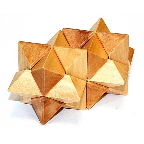 Головоломка деревянная  Двойная звезда