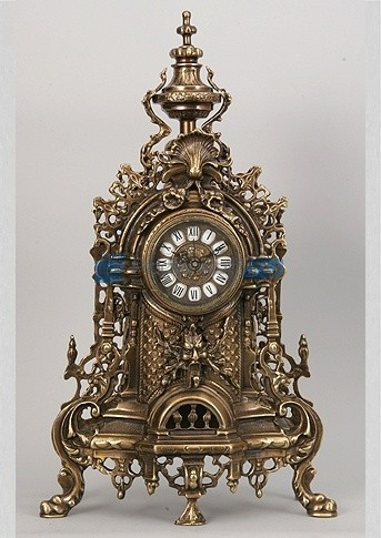 Часы из бронзы Валенсия 58х34 см, цвет каштановый