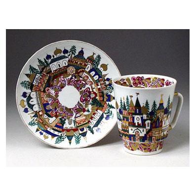 Чашка с блюдцем «Старинная Россия»