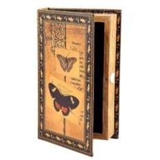 Шкатулка-фолиант «Бабочки», 21x13x5 см