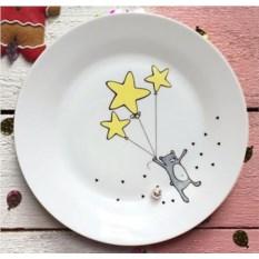 Фарфоровая тарелка Звёздный мишка