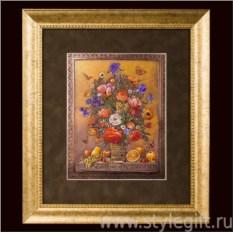 Панно-гравюра Цветы и фрукты