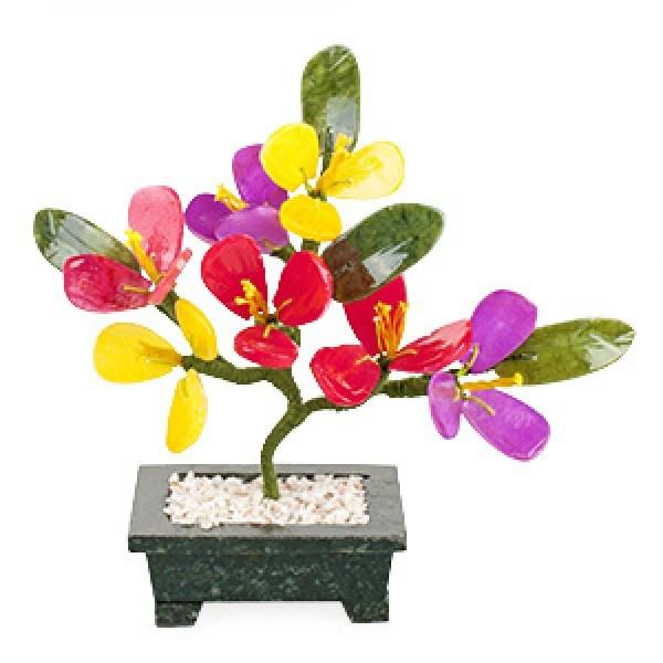 Бонсай (17 см) Цветы персика (дерево счастья)
