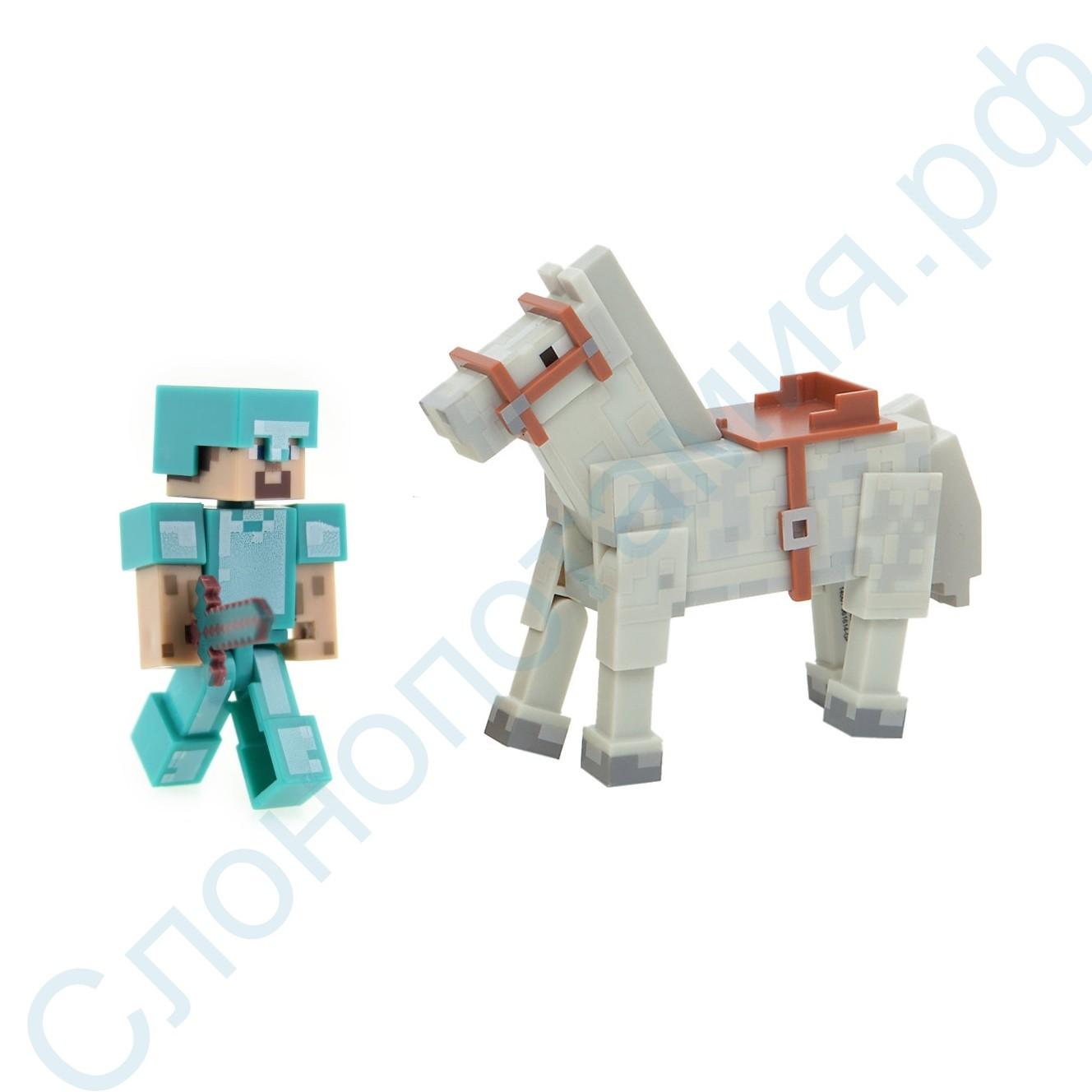 Игровой набор Стив Майнкрафт с конем