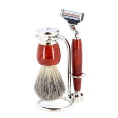 Красно-коричневый бритвенный набор S.Quire