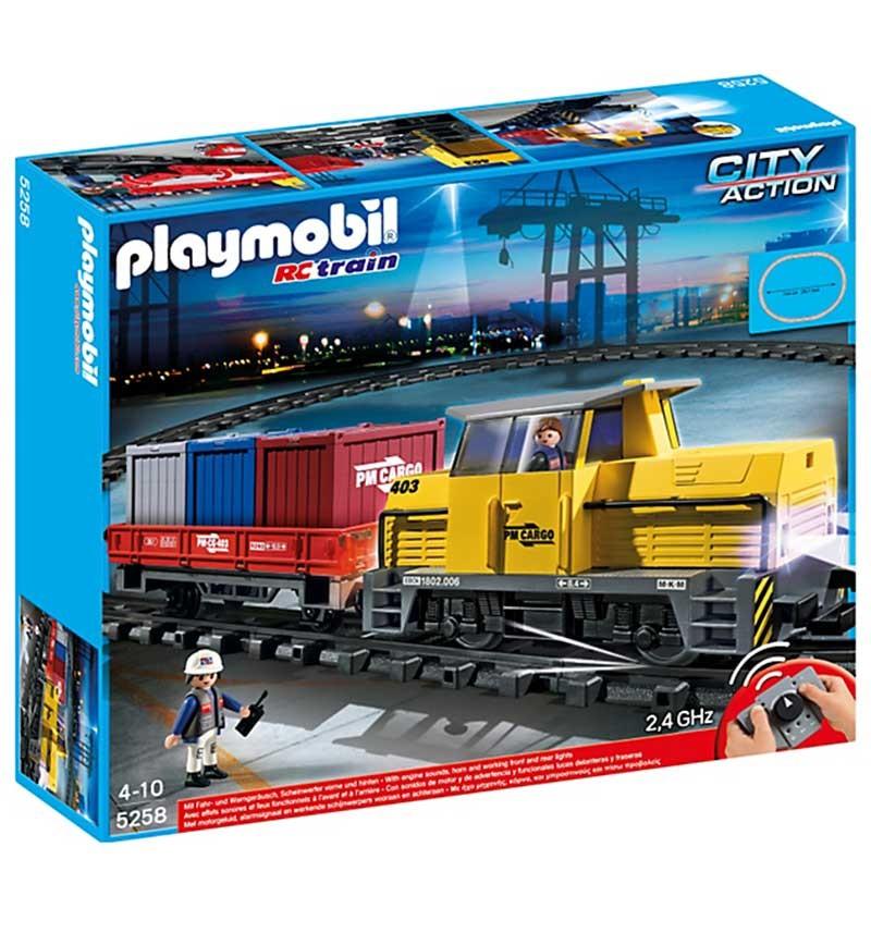 Конструктор Playmobil Грузовой поезд с контейнерами Порт
