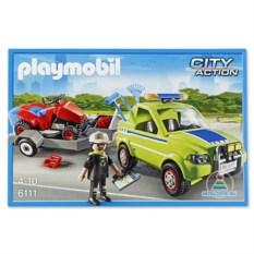 Конструктор Playmobil «Автомобиль с колесной газонокосилкой»
