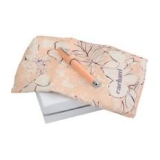 Женский набор Cacharel: шариковая ручка, шелковый платок