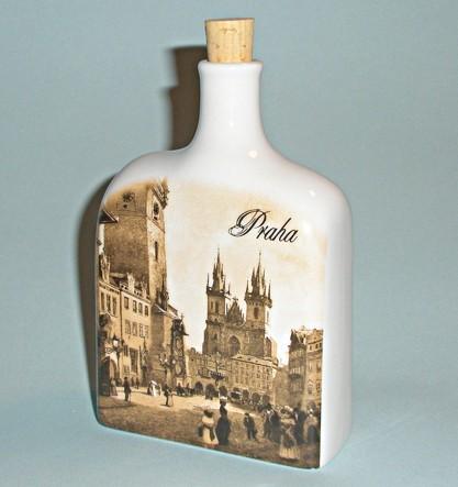 Фарфоровая фляжка «Прага»