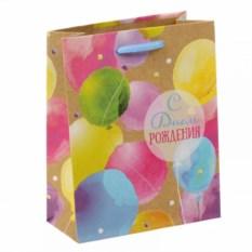 Подарочный пакет С днем рождения! (Акварель)