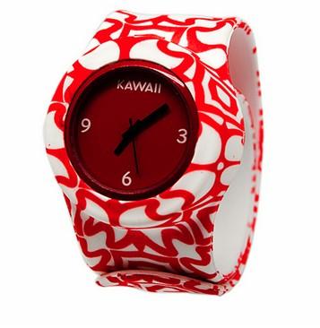 Слэп-часы Красный узор