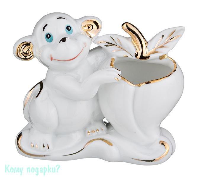 Подставка под зубочистки «Обезьянка», белая