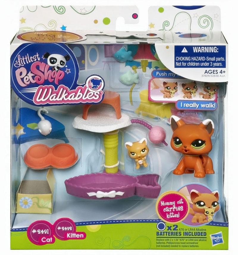 Игровой набор Hasbro Кошка и котенок, Litlest Pet Shop