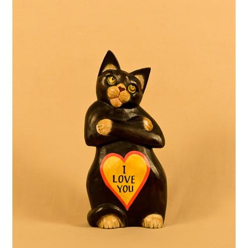 Кот с сердцем 23 см