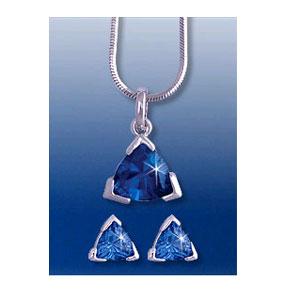 Комплект с голубыми кристаллами