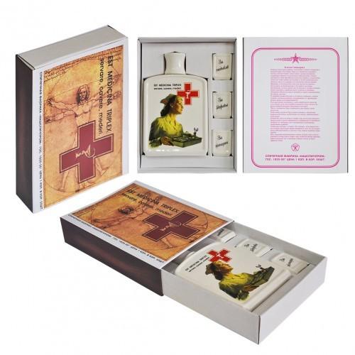 Подарочный набор в виде спичечного коробка Медицина