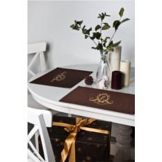 Набор кухонных салфеток с именной вышивкой Фамильный герб