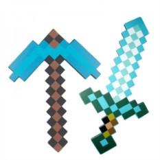 Сувенир Алмазная кирка и меч из Майнкрафт